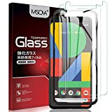 Msova 2枚入り Google Pixel 4 ガラスフィルム Google Pixel 4 強化ガラス ガイド枠付き 液晶保護フィルム Google Pixel 4 日本のAGC素材を使用 気泡ゼロ 指紋防止 高透明度 スムーズ操作