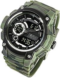[ラドウェザー] トリプルタイム 腕時計 ミリタリー 100m防水 迷彩/カモフラージュ アウトドア メンズ時計