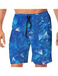 メンズ水着 ビーチショーツ ショートパンツ スパークリング プリント スイムショーツ サーフトランクス 速乾 水陸両用 調節可能