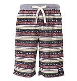 [マンチェス] パンツ 大きいサイズ インレイ裏毛オルテガ柄ハーフパンツ メンズ 1011549231 オレンジ系 日本 5L (日本サイズ5L相当)