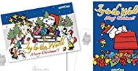 スヌーピータウンショップ限定 ポストカード 2枚セット 2016 クリスマス