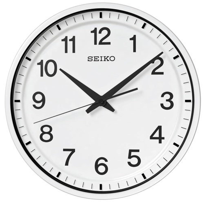 (セイコークロック) SEIKO CLOCK GPS衛星 電波 壁掛け時計 GP214W オフィスタイプ スイープセコンド 白塗装 ホワイト アナログ