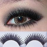 Niome 1Pair Woman Makeup False Eyelashes Cross Charming Soft Synthetic Fiber 026#