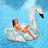 膨脹可能な白鳥の浮遊ベッド、夏の屋外プールのビーチパーティーラウンジチェアとかわいいおもちゃ