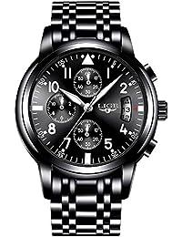 [スポテレン]SPOTALEN腕時計 クロノグラフ メンズ 限定モデル LIGE9825 腕時計 ウォッチ うでどけい Men's クオーツ クロノ ブランド 人気 ランキング アナログ ステンレス バンド