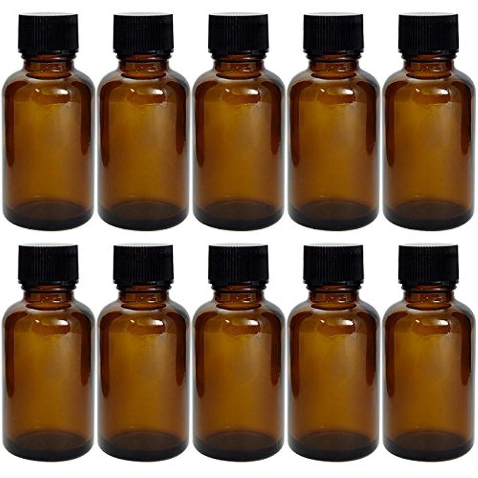原告一部毎日遮光瓶 茶 30cc SYA-T30cc -10本セット- (黒CAP ドロップ栓付)