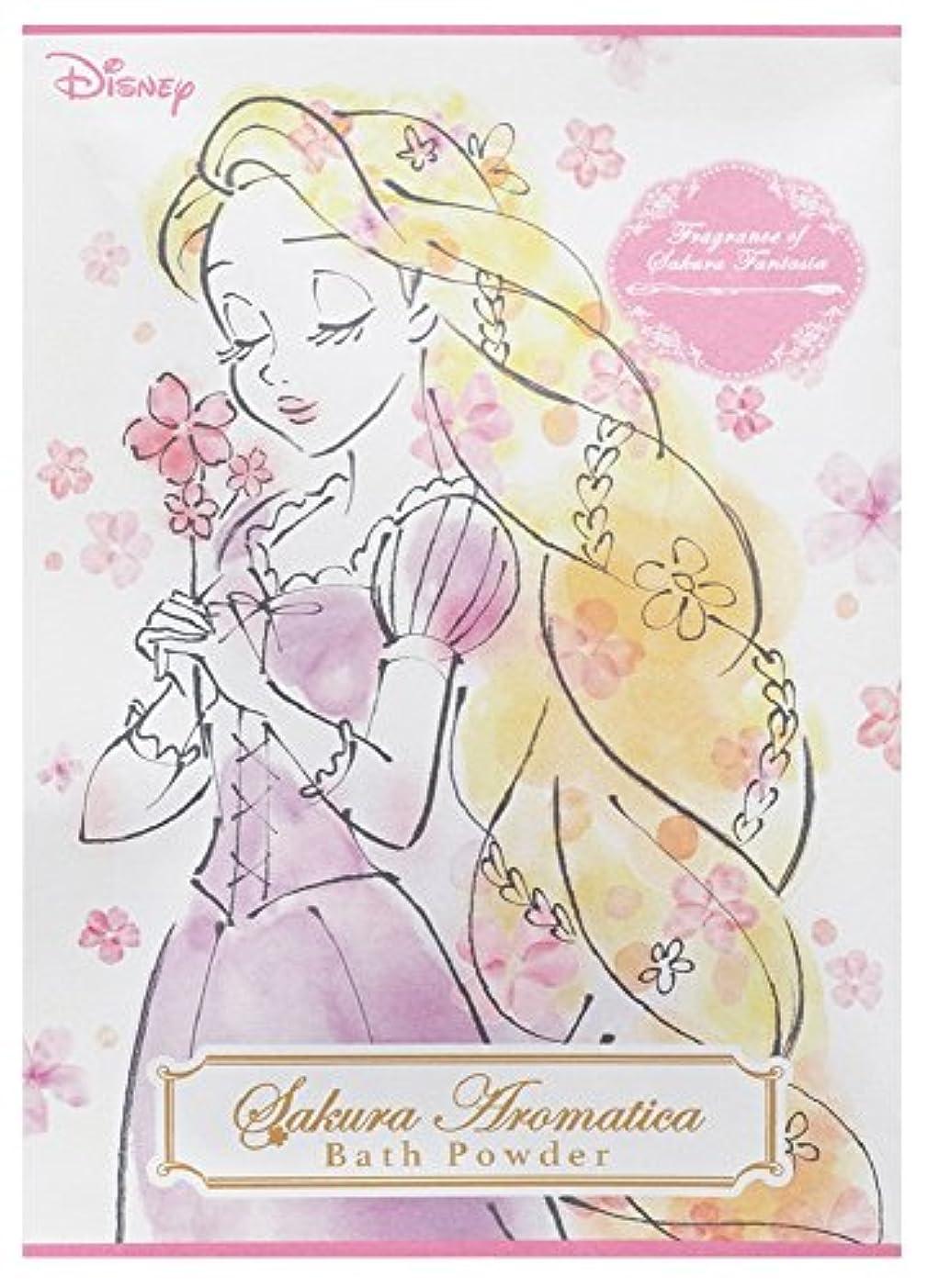 無心テント落胆したディズニー 入浴剤 バスパウダー ラプンツェル サクラアロマティカ 桜の香り 40g DIT-5-02
