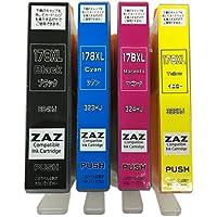 ZAZ HP178-4CL XL 互換インクカートリッジ4色セット ICチップ付き (BK/C/M/Y) 個別包装品 残量表示ICチップ搭載 [FFPパッケージ(G)]