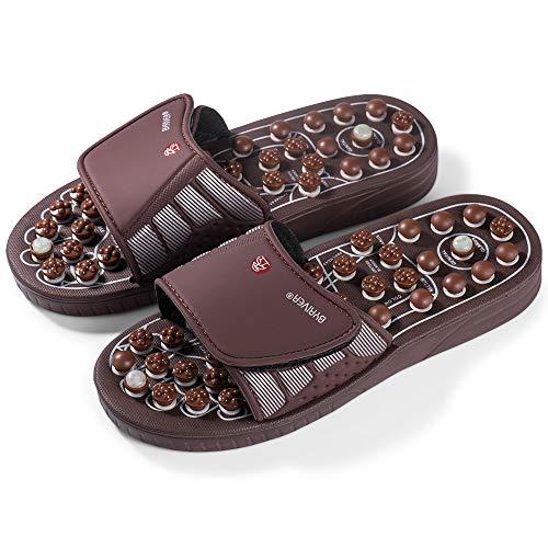 BYRIVER天然石洗えるマッサージ 足サンダル スリッパ 靴男女兼用(L~約29cm) 親のための贈り物