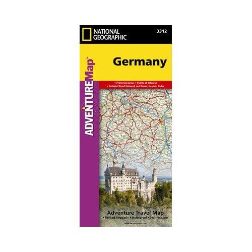 ナショナルジオグラフィックマップAD00003312ドイツアドベンチャー地図