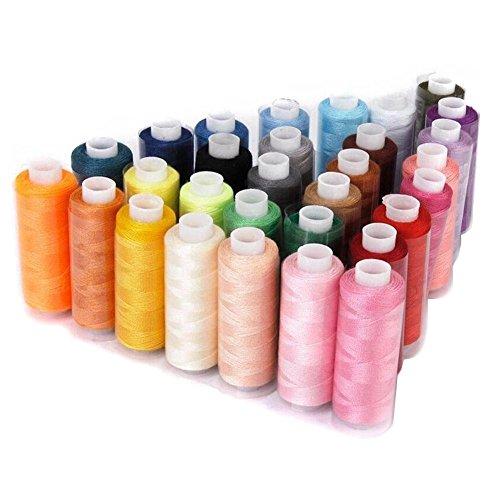 (デイリー スウィート)Daily Sweet DIY 裁縫道具 手芸 ミシン糸 30色セット 糸 絹糸 絹縫糸