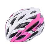 全7色サイクルヘルメット 男女兼用 メンズ レディース ロードバイク サイクリング 自転車用品 (ピンク)