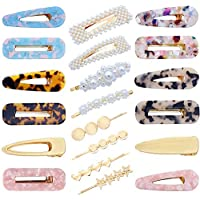TOOGOO 20 Pcs Pearls Hair Clips Hair Barrettes Hollow Geometric Hair Clip Hairpins For Women And Ladies Headwear Styling Tools