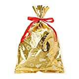 サンリオ クリスマスバッグ 金メタリック L H5217
