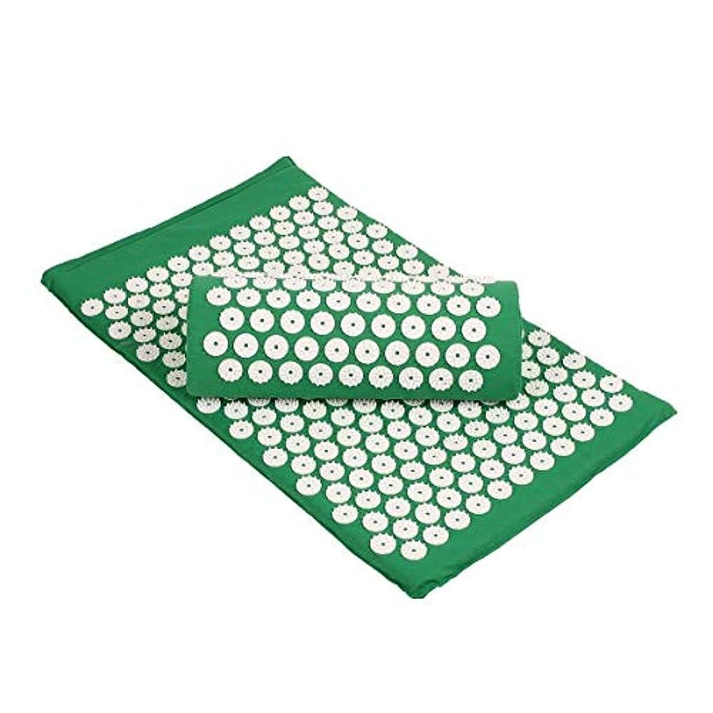 幾何学タッチアウターSulida ヨガマット マッサージマパッド ストラップ付き マッサージ枕 トレーニングマット 睡眠改善 自宅運動 マット 高密度 持ち運び 滑り止め 血行促進 収納簡単 エコ グリップ力 クッション性