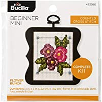 "Bucilla/Beginner Minis Counted Cross Stitch Kit 3"" Scallop-Flower Bunch (14 Count)"