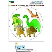 恐竜 - サークルSLAP-STICKZ(TM)プレミアムステッカー