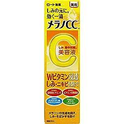 """○「メラノCC しみ 集中対策 美容液」は、しみ・そばかすをしっかりケアするためにロート製薬が""""効き目""""にこだわって開発した医薬部外品です。1.Wのビタミン有効成分が効く!2つのビタミン配合。肌にダイレクトに働きかけてしみが気にならない美肌へ。・「活性型ビタミンC*効果」しみの元にダイレクトに働いて生成を抑制します。・「ビタミンE誘導体効果」血行促進作用で、すこやかな肌へ整えていきます。*アスコルビン酸2.有効成分がより深く浸透する!ロート独自の技術を活かし、より深くまで有効成分..."""