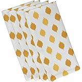 E byデザインHanukkah Ikat DotストライプHoliday幾何パターンナプキン – 4のセット 19 x 19