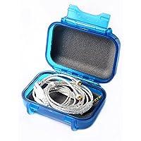PLAYMM WSTC イヤホンケース 収納ケース ハードケース ポーチ 小物整理 防水 頑丈 防塵 (ブルー)