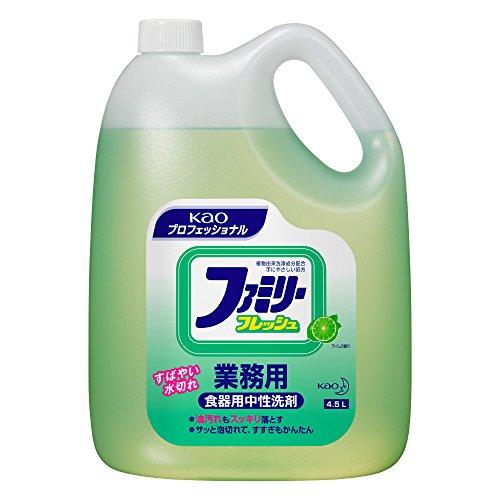 【業務用 食器・野菜用洗剤】ファミリーフレッシュ 4.5L(花王プロフェッショナルシリーズ)