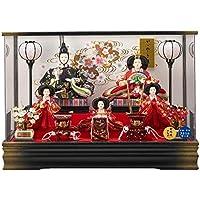 雛人形 5人アクリルパノラマケース 【月結】 三五芥子 5人飾り [間口61cm] 【fn-13】 ひな祭り