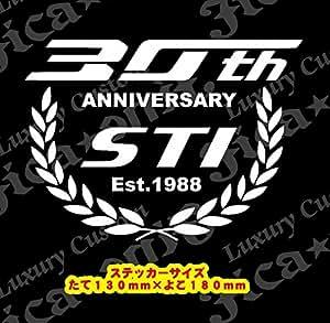 STI 創立30周年記念●SUBARU STI 30TH Anniversary 防水ステッカー (白)