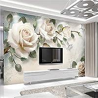 Wuyyii カスタム3D写真の壁紙壁画ヨーロッパスタイル現代の手描きの花柄油絵装飾画壁画
