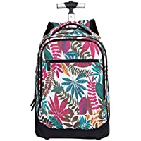 TONGSH Rolling Backpack 18 Inch School College Travel Carry-on Backpack Boys Girls (Color : C)