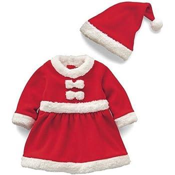 07096e7d8f194 COCO1YA(ココイチヤ) サンタ 衣装 女の子 帽子付き クリスマス パーティー クリスマス プレゼント ベビー服サンタワンピース