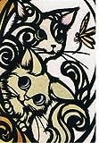 ねこの引出し 猫切り絵作家「さとうみよ」のポストカード09「探」
