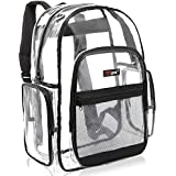MGgear Clear Transparent PVC Multi-Pockets School Backpack/Outdoor Backpack