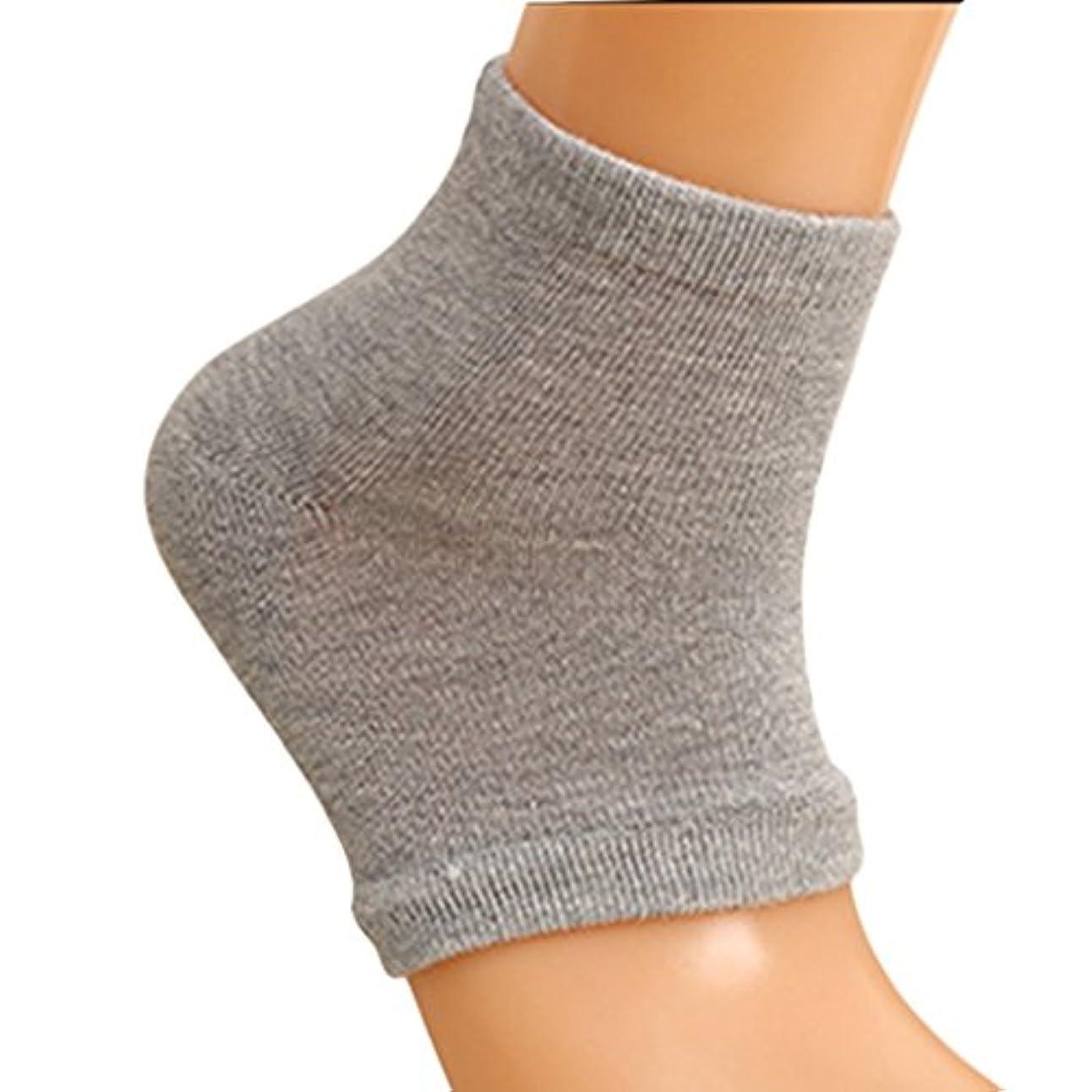 重量不公平ロマンスXiton 靴下 ソックス レディース メンズ 靴下 つるつる 靴下 フットケア かかとケア ひび 角質ケア 保湿 角質除去(2足セット グレー)