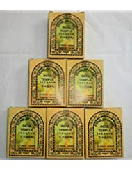 Song of India Temple Cone Incense, 6 x 25 Cone Pack, 150 Cones Total