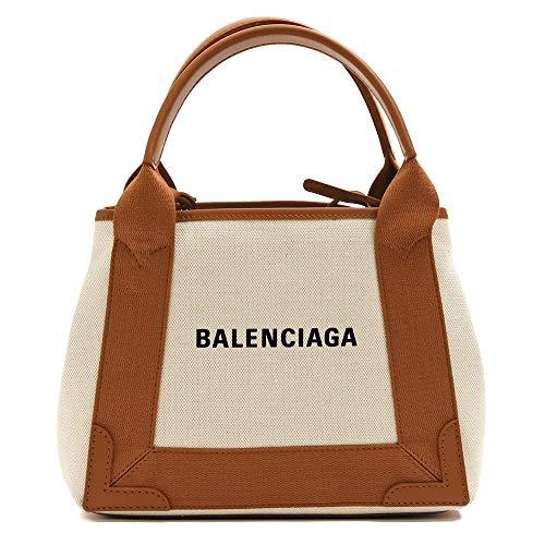 [バレンシアガ] BALENCIAGA NAVY CABAS XS ネイビーカバ XS ロゴ入り ポーチ付き コットン ミニサイズ 2WAYトートバッグ ハンドバッグ 390346 AQ38N 2381