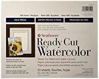 "Strathmore Watercolor Paper 8""X10""-140lb 10 Sheets Cold Pressed (並行輸入品)"