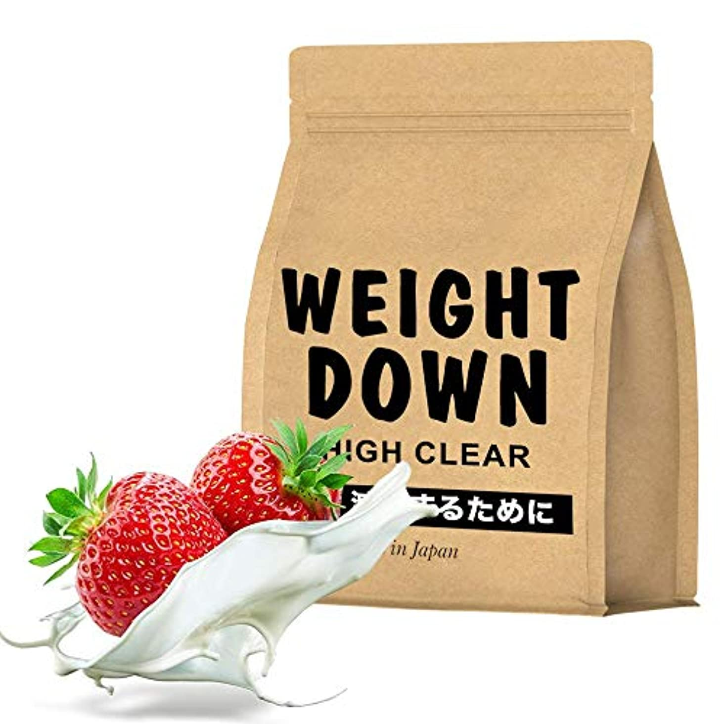 凝縮するこどもセンターギャップウェイトダウンマッハ1㎏【AMAZON限定】 11種類ビタミン ストロベリーミルク味 40食分 HIGH CLEAR(ハイクリアー)