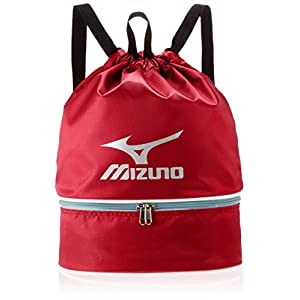 MIZUNO(ミズノ) プールバック 巾着タイプ 11L 85DK30362 L27cm×W15cm×H38cm レッド