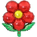 ケイ?ララ 風船 バルーン アルミ風船 花 フラワー [レッド] 45cm×50cm 全6色 誕生日 バースデー 結婚式 ウェディング パーティー y1