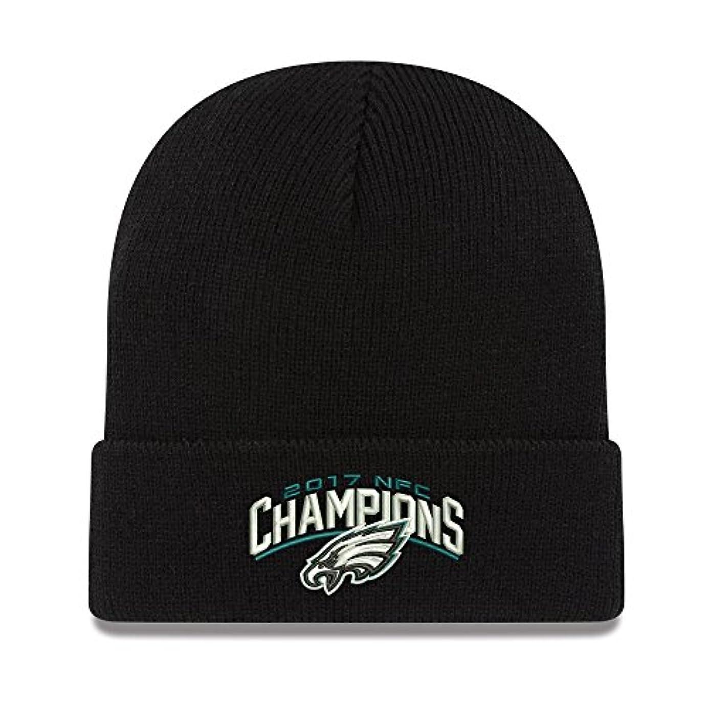 性差別敬なぴかぴかPhiladelphia Eagles新しい時代2017 NFC Champions基本Cuffedニット帽子ブラック