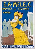 Mele–Massimo Buon Mercato 2ヴィンテージポスター(アーティスト: Metlicovitz )イタリアC。1909 12 x 18 Art Print LANT-58281-12x18