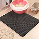 Pet Cat Litter Mat Double-Layer Sand Cat Mats for Cat Litter box Large Size Foldable Non-slip Waterproof Pet Bed Easy Clean F