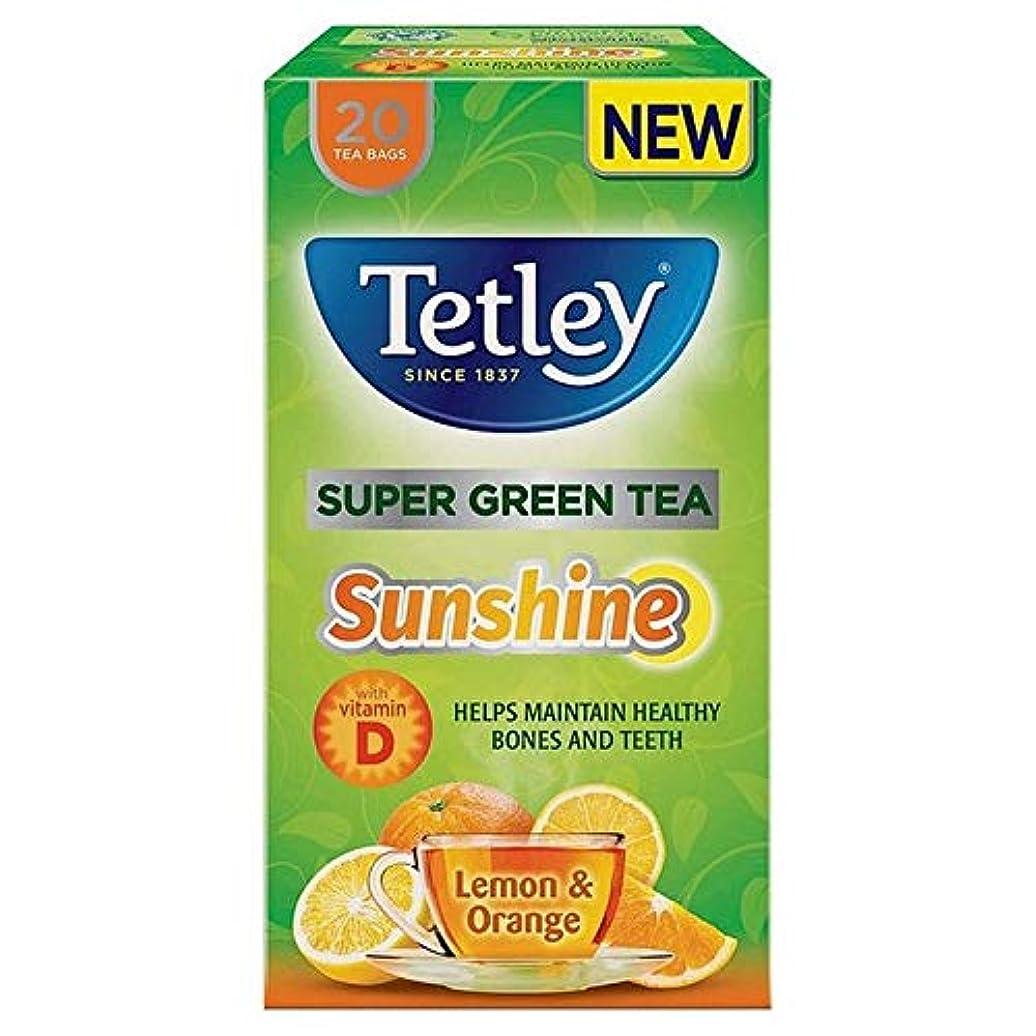 スティーブンソン大騒ぎ略語[Tetley ] テトリーSupergreenの日差しレモン&オレンジティーバッグ20パックあたり - Tetley SuperGreen Sunshine Lemon & Orange Tea Bags 20 per pack [並行輸入品]