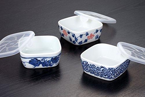 角パック小鉢 3個組 パック鉢 小鉢 日本製 美濃焼 人気小鉢 保存容器 電子レンジOK