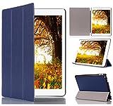 SHINEZONE Apple ipad Pro 用ケース 高級PUレザー 三つ折 超薄全面保護型 スタンド機能付き (ブルー)