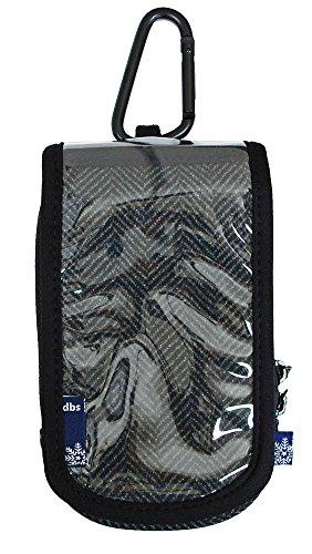 DBSアクセサリーKIZAKIキザキ/スキー/スノーボード「パスケース・スマートフォンポーチ」DBS-B4131 (ヘリンボーン・ブラック)