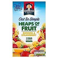 フルーツバナナ&ストロベリー8のX 35.5グラムのクエーカーオーツ麦とても簡単ヒープ - Quaker Oat So Simple Heaps Of Fruit Banana & Strawberry 8 x 35.5g [並行輸入品]