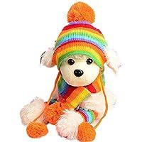 ドビンス(Dobeans)犬猫 冬用 スカーフ 帽子 レッグウォーマー 三点セット 温かい 可愛い