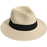 Unformost Women Summer Hat Sun Beach Straw Hat with Wide Brim