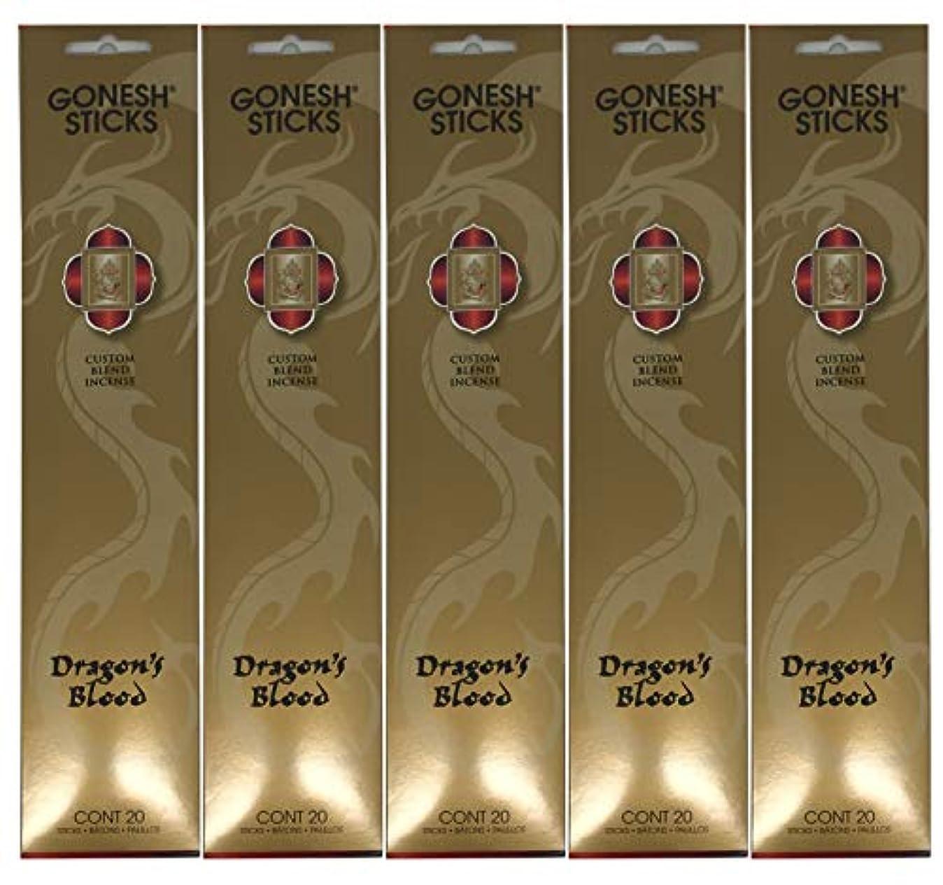 セージ食事を調理する荷物Gonesh カスタムブレンドインセンススティック - Dragon's Blood - 5パック (合計100本)